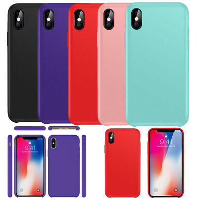 Genuine Original Ultra Thin Silicone Case Cover For Apple iPhone X 8 7 6 6S PLUS