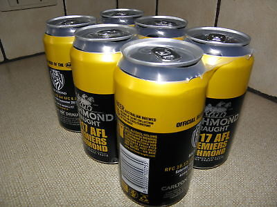 Richmond Tigers  Afl Premiers 2017,one Six Pack Still In Holder Cans Empty,