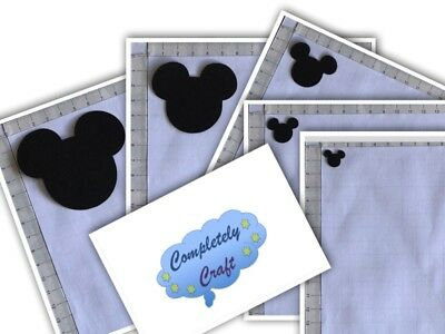 Mickey Mouse Head Silhouette Die Cut x 12 - card, scrapping, embellish, toppers