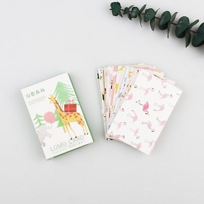 28pcs Cartoon Forest Greeting Card Postcard Birthday Letter Gift Card