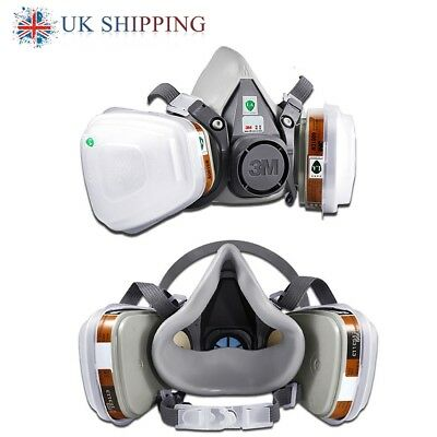 7 in1 3M 6200 Premium Half Face Spray Paint Industry Dust Mask Respirator Filter