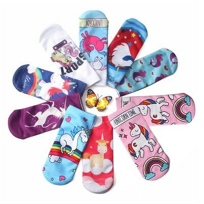 Cute Unicorn Socks Low Cut Novelty Kids Women Girls Boys Teenager Winter Spring