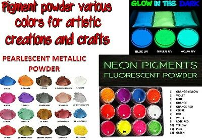 Pigment powder various colors for artistic creations and crafts, for Epoxy resin