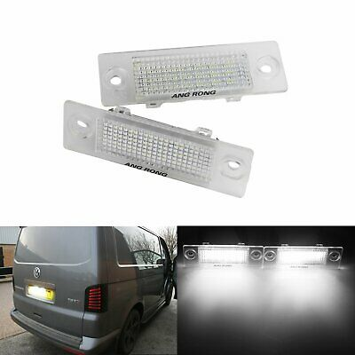 Pair LED Licence Number Plate Light VW Transporter Caddy Passat Touran Multivan