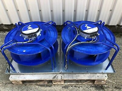 2x Ziehl-Abegg 4.1kw ECBlue Centrifugal Fan cooling ventilation data server hvac