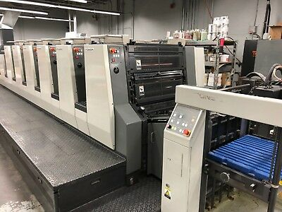 2004 Komori NL628+C 6 Color with Coater New Lithrone 118 Million Impressions