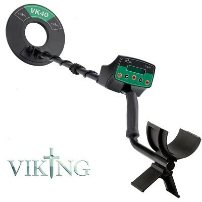 Viking VK40 Metal Detector with Headphones, Coil Cover, Battery