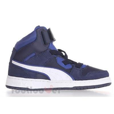 Shoes Puma Rebound Street SD Inf 358589 11 B Basket Boy s Leather Blue  Sneakers 775076f3be3
