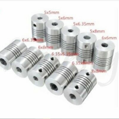 New 5/6/6.35/8mm Flexible Shaft Coupling Rigid For CNC Motor Coupler Connector