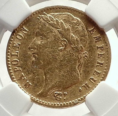 1813 FRANCE Napoleon Bonaparte 20 Francs Antique French Gold Coin NGC i71325