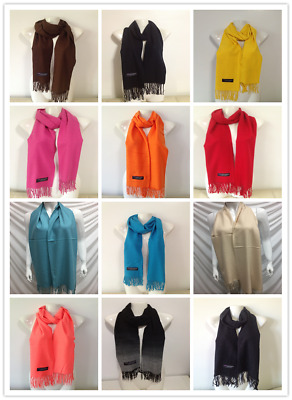 Wholesale 12Pcs 100% Cashmere Scarf Made In Scotland Solid Design Lot