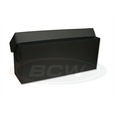 3 x PLASTIC comic storage boxs.BLACK finish.