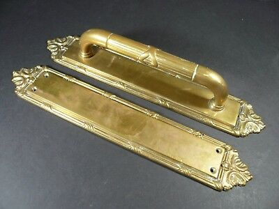 Period Brass Co. Reed & Ribbon Heavy Duty DOOR PULL HANDLE & PUSH PLATE W1556 #1