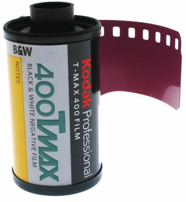 Kodak Professional T-MAX 400ASA 35mm Black and White Film 135-36 Exposure 2 pack