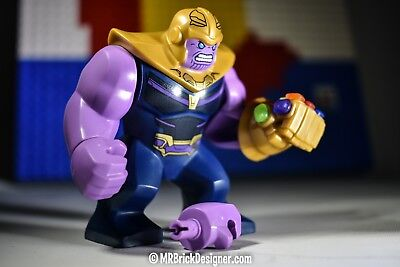 LEGO Infinity War Thanos Minifigure with Gauntlet 6 Stones 76107 Mini Fig Avenge