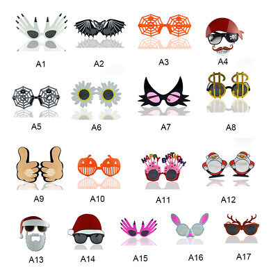 dd62a2f903c Halloween Funny Assorted Sunglasses Eye Glasses Hen Night Party Costume  Props