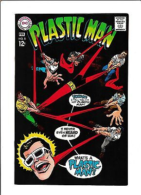 "Plastic Man  #6  [1968 Fn-Vf]  ""the Unforgettable Wot'-S-Iz-Name!"""