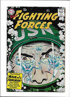 """Our Fighting Forces #35  [1958 Vg+]  """"mask Of A Frogman!""""  Silver-Age Comicbook"""