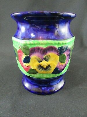 Maling Ware Hand Painted Vase for Ringtons Ltd c.1930-50s