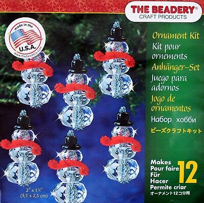 THE BEADERY CRAFT PRODUCTS TBC5724  BEADERY CRAFT ORNAMENT KIT CHRISTMAS CRYS...