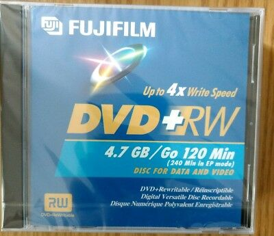 Lot of 4 Fujifilm DVD-RW 4.7 GB or 120 Min Re-Recordable Data & Video Disks NEW