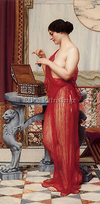 Godward The New Perfume Artist Painting Handmade Oil Canvas Repro Wall Art Deco
