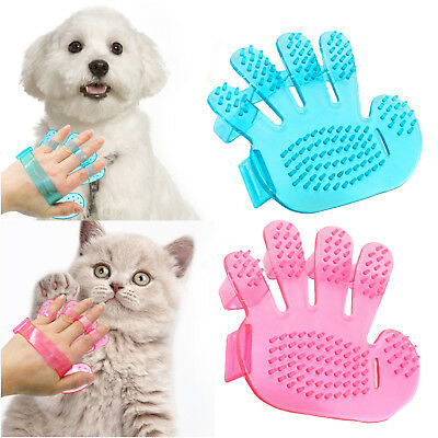 Cat Dog Pet Cleaning Hair Massage Grooming Rubber Glove Bath Brush Comb Tool