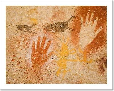 Ancient Cave Paintings Art Print/Canvas Home Decor Wall Art Poster - F