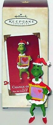 2002 The Grinch CHANGE OF HEART NEW Hallmark How Stole Christmas DR SEUSS X-RAY