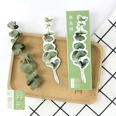 30 Pcs Fresh Plant Paper Bookmarks for Books Flashcard  School Supplies New
