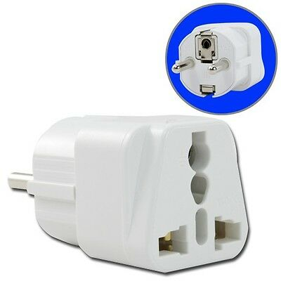Universal AU US UK to EU Outlet AC Wall Power Plug Home Travel Converter Adapter