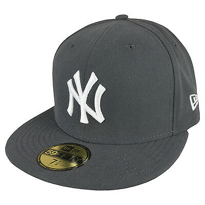 bf77f484f5d NEW ERA 59FIFTY New York Yankees Casquette Graphite Blanc - EUR 26 ...