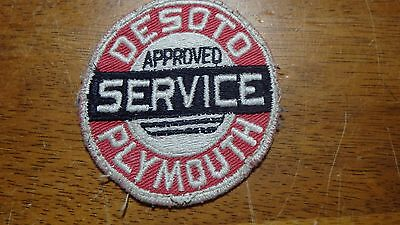 Rare Desoto Pl Mouth Approved Service  1950's  Patch  Bx 13 #18