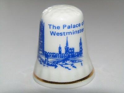 Palace of Westminster Election Result Bone China Thimble Made in England /TB05