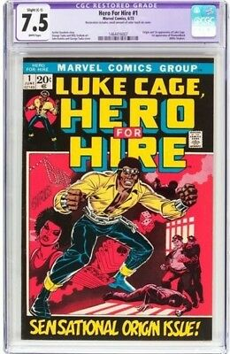 luke cage hero for hire 1 cgc 7.5