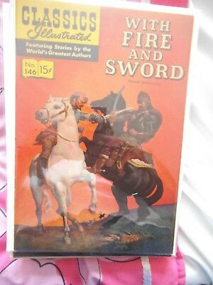 CLASSICS ILLUSTRATED with fire and sword