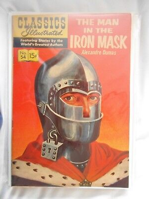 Classics Illustrated No. 54 The Man in the Iron Mask Dec. 1948