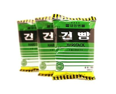 Military Army MRE C Ration Food Hardtack Snack Cracker Biscuit w/ Candies 3 Pack