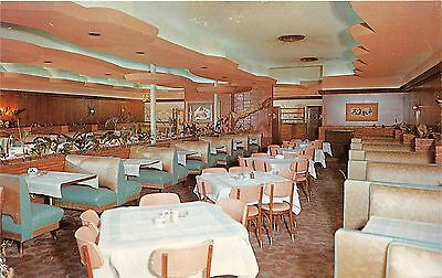 Memphis Tennessee~Anderton's Restaurant Dining Room~Art-Deco Decor~1950s Pc
