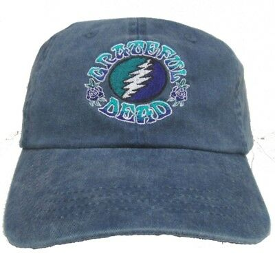 New Authentic Grateful Dead Bolt Embroidered Baseball Hat