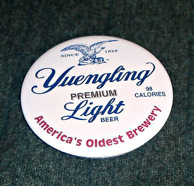 Rare 1980's Yuengling Light Beer Vintage Pinback Button