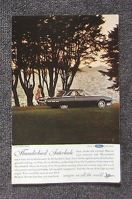 FORD THUNDERBIRD 1962 Auto Car Magazine Page Sales Ad Advertisement Brochure