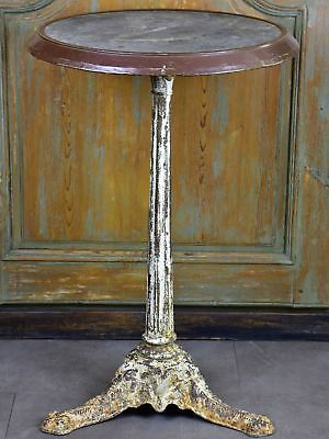 Late 19th century French marble bistro table