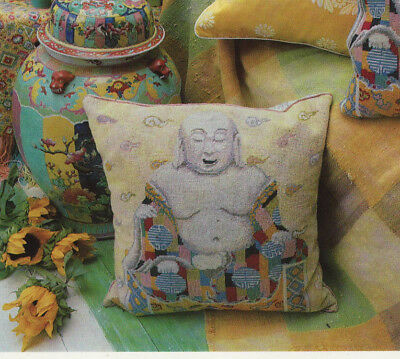 Kaffe Fassett Buddha Cushion Tapestry Needlepoint Chart in Colour
