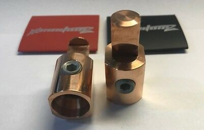 COPPER Pair Power and Ground 1/0 to 1/0 AWG 0 Gauge Amp Input Ill Customz New