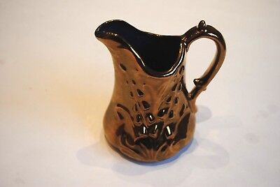 Vintage Welsh Lustre Pottery Jug Floral decoration Flowers Lily of the Valley
