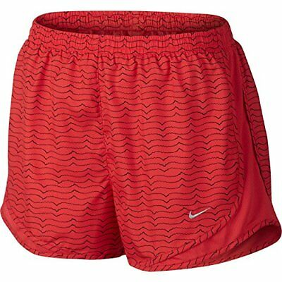 Nike Women Dry Fit Running Training Exercising Shorts RED AND BLACK