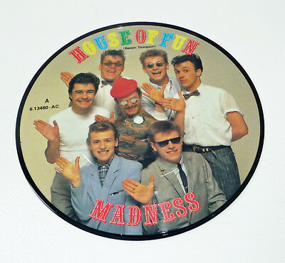 "MADNESS ""House Of Fun"" german M- 1982 7"" Picture Disc STIFF 80s SKA Pop Nutty"