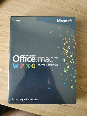 NEW & SEAL Microsoft Office MAC 2011 Home and Business for 1 User 1 Mac