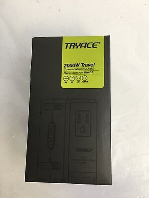 TryAce 2000W Worldwide Travel Converter Adapter. Unused